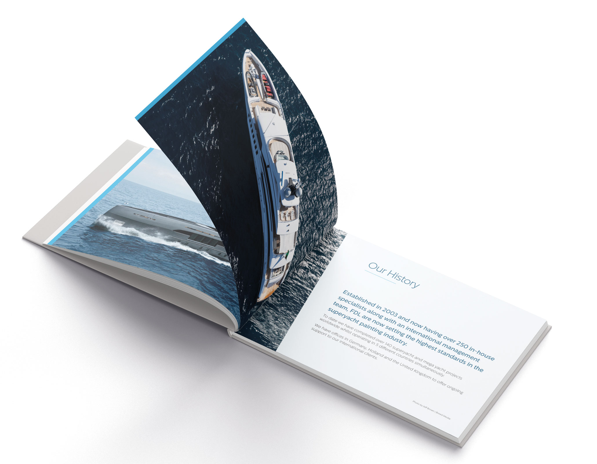 Finishing DeLuxe printed book / brochure design in Cornwall by thstudio